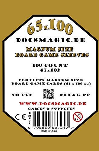 100 Docsmagic.de Magnum Size Board Game Sleeves - 67 x 102 - Extra Large - 65 x 100 - Brettspielhüllen 7 Wonders