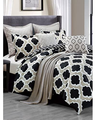 Luxury Home 9-Piece Dorchester Comforter Set