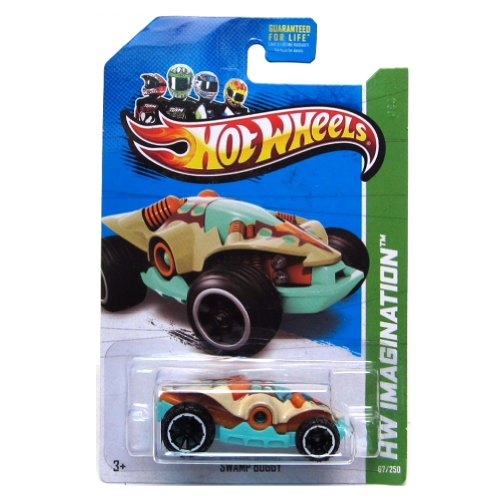 Hot Wheels 2013 Hw City Dino Riders Swamp Buggy 67/250 - 1