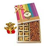 Chocholik Belgium Chocolates - Sinful Treat Of Baklava And Almonds Gift Box With Small Ganesha Idol - Diwali Gifts