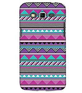PrintHaat Hard Polycarbonate Designer Back Case Cover for Samsung Galaxy Mega 5.8 I9150 :: Samsung Galaxy Mega Duos I9152 (designer pattern :: decorative design :: zig zag design :: multicolor design :: latest trendy design :: excellent drawing design :: good looking art design :: in black, green, red, blue and yellow)