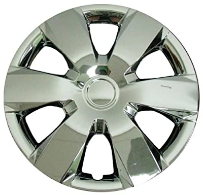 CCI IWC429-16C 16 Inch Clip On Silver & Chrome Finish Hubcaps - Pack of 4