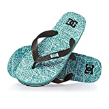 DC Spray Graffik Youth Flip Flops - Turquoise/Black