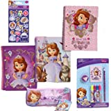 Disney Jr. Sofia the First School Supply Holiday Value Pack Gift Set for Kids - 5 Piece Princess Sofia the First School Supply Gift Set with 3 Spiral 3-Hole Punch Notebooks (3 Fun Designs), 1 7-Piece Stationary Set, 1 Pencil Case PLUS Bonus Princess Sofia Stickers