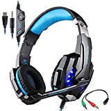 KOTION EACH G9000 PC Gaming Headset Over-ear Headphones 3.5mm Stereo Jack With Microphone LED Light For PS4/Xbox...