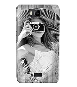 Fuson 3D Printed Girly Designer back case cover for Huawei Honor Bee - D4448