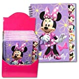 Disney Minnie Mouse Purple Spiral Bound Tabbed Notebook Journal Diary