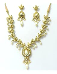 RCJ Gold Brass Necklace Set For Women - B00XN84PBG