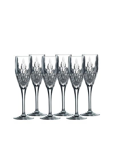 Royal Doulton Retro Flute Glasses, Set of 6, Clear