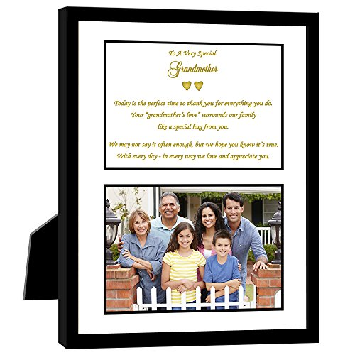 Grandmother Gift with Sweet Poem in 8x10 Frame - Birthday, Christmas or Wedding Thank You - Add 4x6 Photo