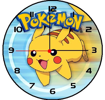 Characters Wall Clock Pokemon Wall Clock