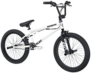 Mongoose Boy's Scan R20 Freestyle Bike, 20-Inch, White