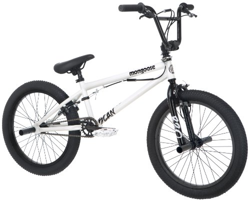 Mongoose Boys Scan R20 Freestyle Bike, 20-Inch, White