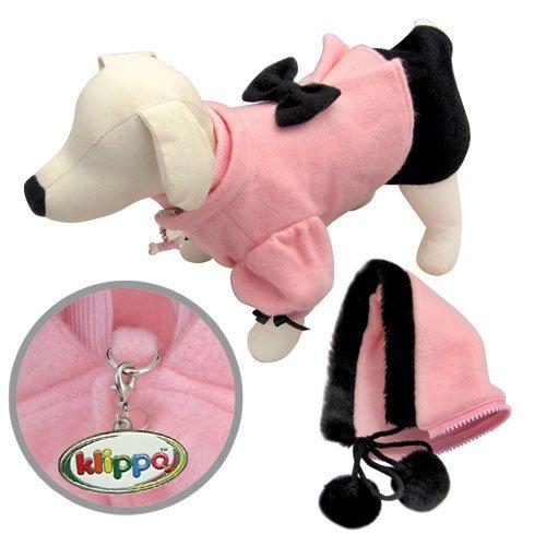 Adorable Soft Fleece Princess Dog Dress Coat with Detachable Hood - XL