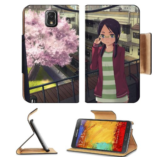 Girl And Cherry Tree Samsung Galaxy Note 3 N9000 Flip Case Stand Magnetic Cover Open Ports Customized Made To Order Support Ready Premium Deluxe Pu Leather 5 15/16 Inch (150Mm) X 3 1/2 Inch (89Mm) X 9/16 Inch (14Mm) Liil Note Cover Professional Note 3 Cas