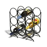 Spectrum 47710 Multi-Ring Wine Rack, 9-Bottle, Black