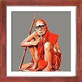 1501-Kanchi Maha Periyava-Teak (35.5x35.5)