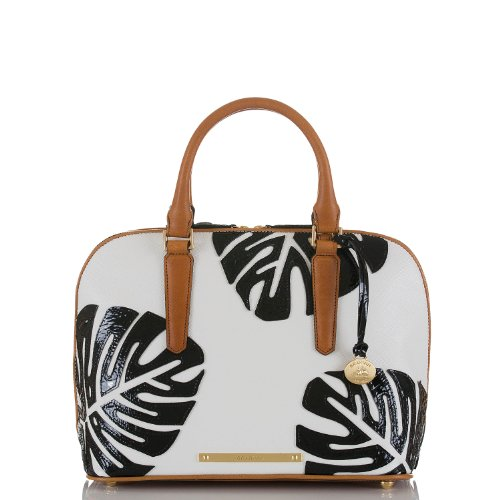 Vivian Dome Satchel<br>White Monaco