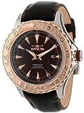 Invicta Men's 12616 Pro Diver Black Dial Black Leather Strap Watch