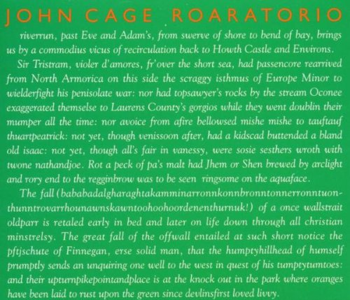 Roaratorio : An Irish Circus On Finnegans Wake, Laughtears, Writing For The Second Time Through Finnegans Wake