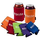 Number 1 in Service Can Insulator Koozies (10 Pack) Summer Luau Colors