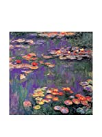 Artropweb Panel Decorativo Monet White Purple Water Lillies 9809