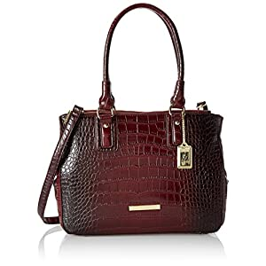 Anne Klein Hear Me Roar Top Handle Satchel,Bordeaux,One Size