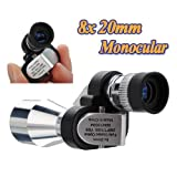 Mini 8 x 20mm Portable Pocket Adjustable Monocular Telescope For Outdoor Sports Hiking Bird Watching