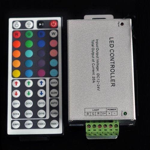 12V-24V Dc 20A 240W 44Key Ir Remote Controller For Rgb Led Strip 5050 3528 Smd