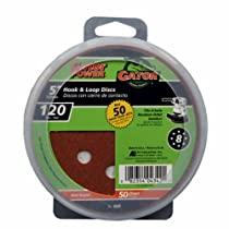 ALI INDUSTRIES 4342 8 Hole Hook and Loop 120 25 CT Grit Disc, 5-Inch, 50-Pack
