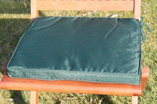 Gartenmöbel-Auflage - Sitzkissen für Klappstuhl in Grün