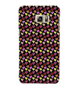 EPICCASE beddazled hearts Mobile Back Case Cover For Samsung Galaxy Note 5 Edge (Designer Case)