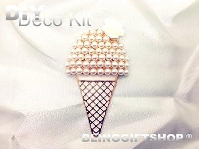 BlingGiftShop® (BG-DP-007) DIY 3D Bling Ice Cream Alloy Deco Kit