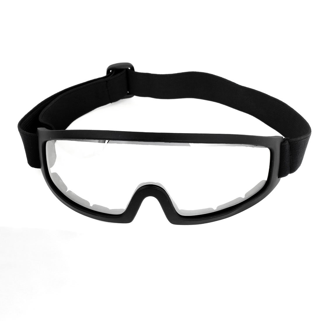 Black Plastic Frame Design Rim Clear Lens Ski Goggles Sunglasses юбка с цветочным рисунком и воланом 25% шелка
