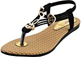 Mgz Girls Synthetic black Outdoor Sandals (11 UK)