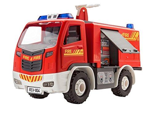 Revell-00804-Junior-Kit-Feuerwehrauto-rot