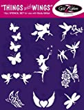 Things with Wings Tattoo Stencil Set for Glitter Tattoos / Kids Tattoos -DERMATOLOGIST TESTED!