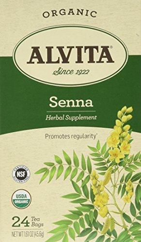 Alvita Organic Herbal Tea Senna -- 24 Tea Bags