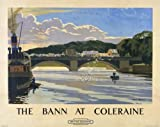 Northern Irish Poster, River Bann at Coleraine, Northern Ireland by Norman Wilkinson