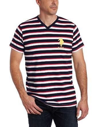 U.S. Polo Assn. Men's Medium Striped Tee, Classic Navy, X-Large