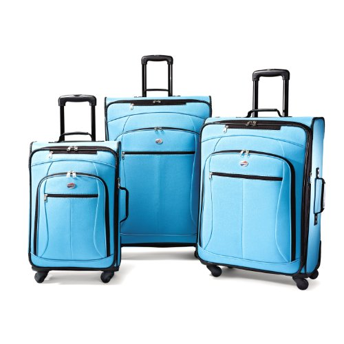 American Tourister Luggage AT Pop 3 Piece Spinner Set, Aqua Blue, One Size top deals