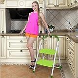 2 Treads/Steps ladder Green Stool Folding Non Slip Mini Steps Multi-Purpose Kitchen Home Easy Storage Ladder(SI-HH1007)