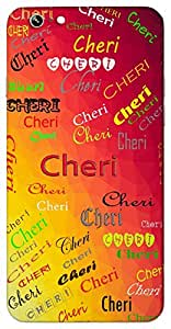 Cheri (Beloved One Dear Variant of Cherie Dear One Darling) Name & Sign Printed All over customize & Personalized!! Protective back cover for your Smart Phone : Moto E-2 ( 2nd Gen )