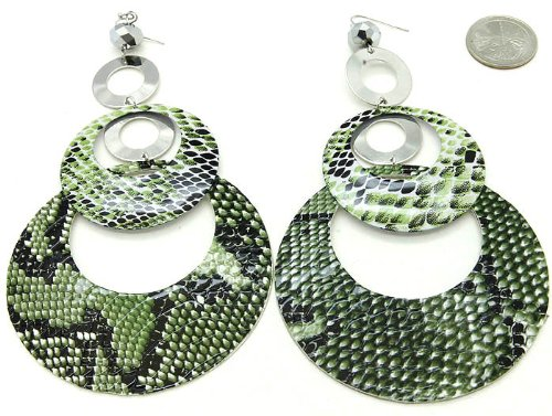 EARRING FISH HOOP THEME GREEN Fashion Jewelry Costume Jewelry fashion accessory Beautiful Charms