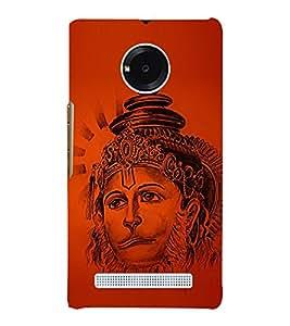 Lord Narasimha Hanuman 3D Hard Polycarbonate Designer Back Case Cover for YU Yureka Plus