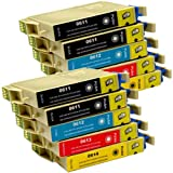 10 CiberDirect Compatible Ink Cartridges for use with Epson Stylus DX4200 Printers.