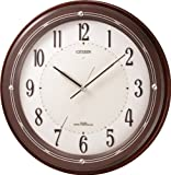 CITIZEN (シチズン) 掛け時計 電波時計 サイレントソーラーM796 木枠 ソーラー電源併用 4MY796-006