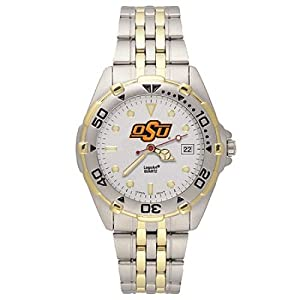 NSNSW22217Q-Stainless Steel Oklahoma State University Cowboys Watch by NCAA Officially Licensed