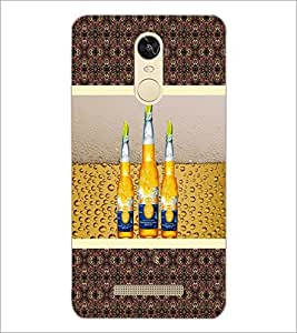 PrintDhaba Bottles D-3812 Back Case Cover for XIAOMI REDMI NOTE 3 (Multi-Coloured)
