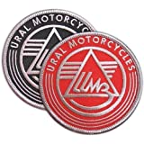 RUSSIAN MOTORCYCLES URAL PATCH BIKE SIDECAR EMBROIDERED EMBLEM TWO PATCHES SET